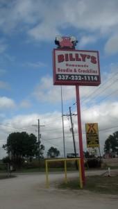 billys boudin sign