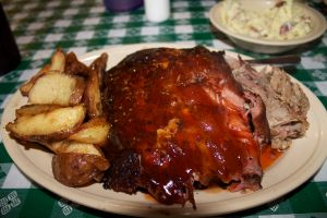 pork ribs and pulled pork