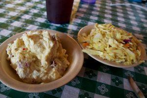 potato salad and slaw