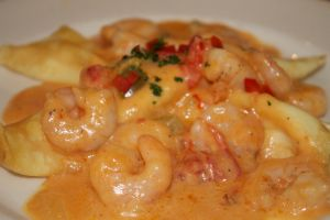 shrimp and crepes