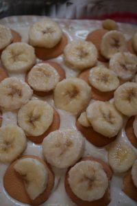 layering bananas